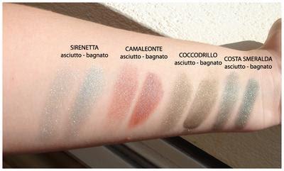 Neve Makeup: Ombretti minerali - Sirenetta, Camaleonte, Coccodrillo, Costa smeralda