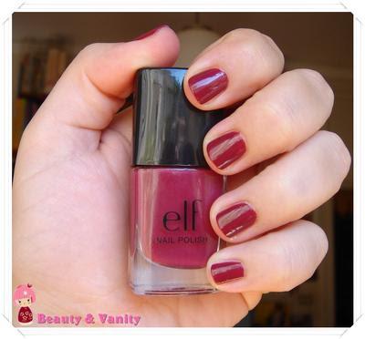 ELF Nail Polish in Rosy Raisin (Collezione autunnale 2010)