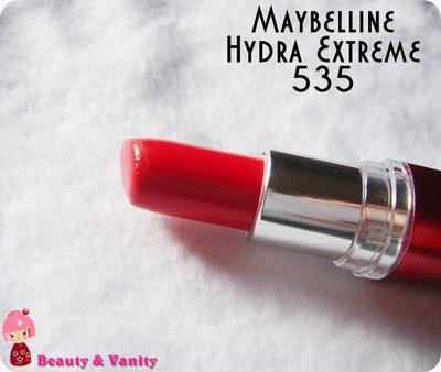 MAYBELLINE HYDRA EXTREME 535 (PASSION RED)