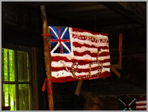 Wooden Flag that was Displayed at the Smithsonian