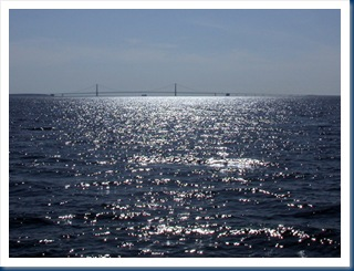 Mackinac Bridge As Seen From The Ferry