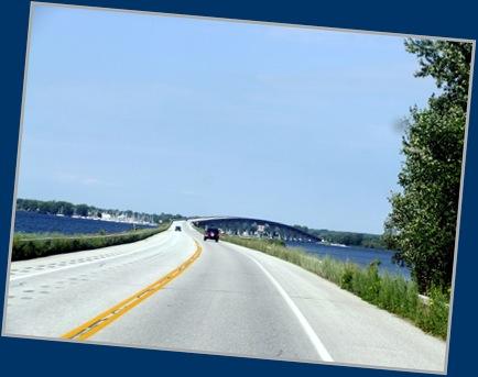 Bridge connecting New York and Vermont