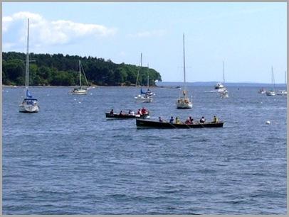 Row Boat Race Underway