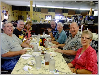 Eating Again - Darrell, Ken, Cindy, Jim, Dee, Jim, Ellie