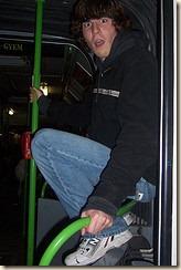 matt on a train
