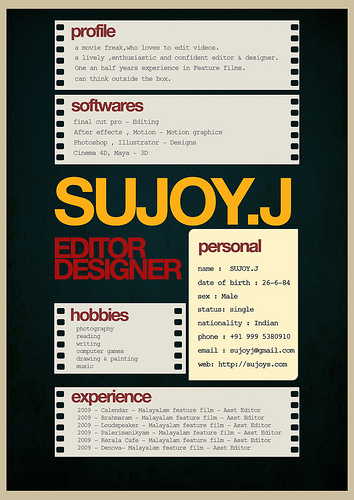 Examples of Super Creative Resume Design