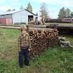 Mikko-poika on museorautatien talkoomies nuoremmasta päästä. Kuva: Tiina Sintonen