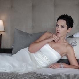 Ready by Lodewyk W Goosen-Photography - Wedding Bride ( love, pose, bed, wedding, dressed, bride, marriage )