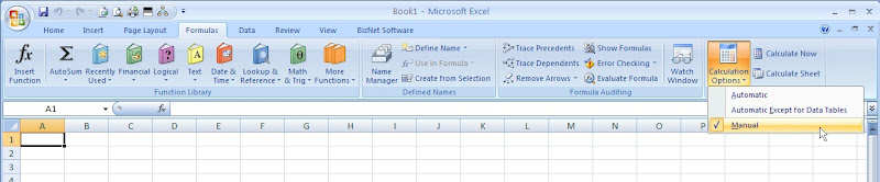 Stop auto calculation in excel 2007 10