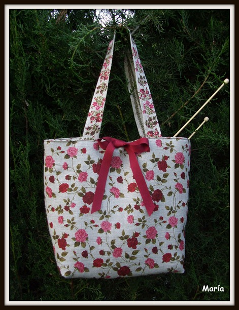 Bolso flores punto-3