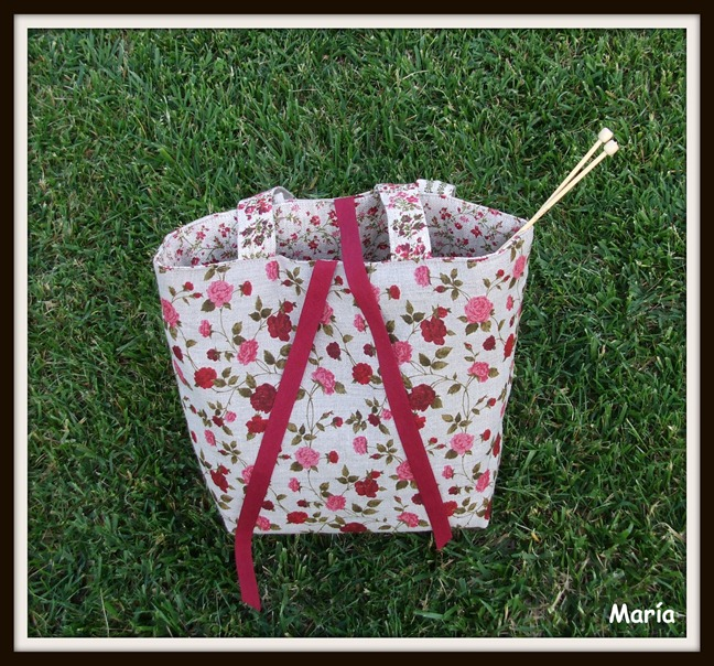 Bolso flores punto-1