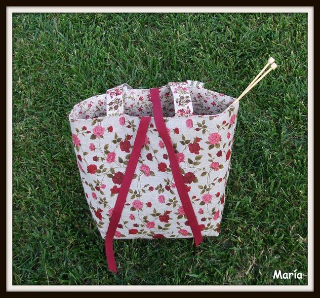 Bolso flores punto-1