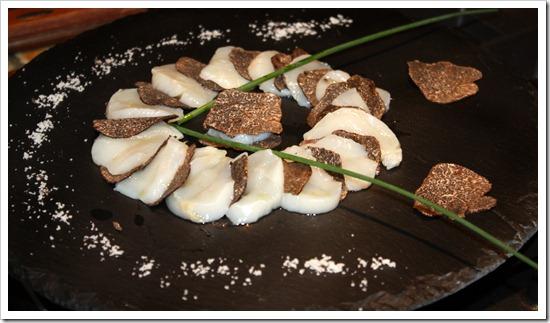 морские гребешки с трюфелями