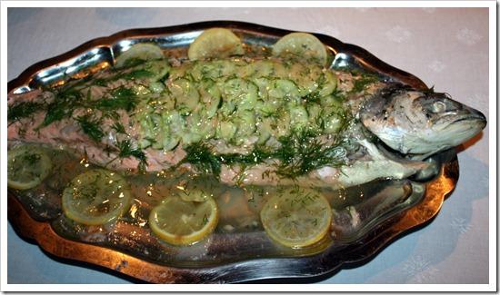 лосось в желе