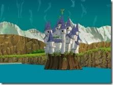 O majestoso castelo de Hyrule!... embaixo do mar!