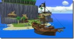 Um navio pirata! Corram!... ah não, estes piratas são amigos.
