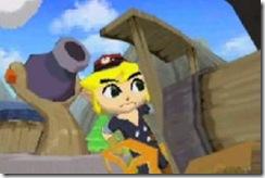 Depois de barco, agora Link anda de trem!