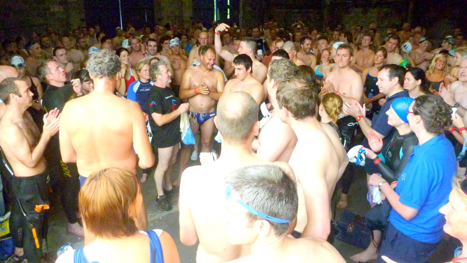 lee swim attracts record numbers balmy weather together with a record