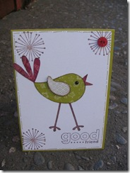 Stamp and cut card