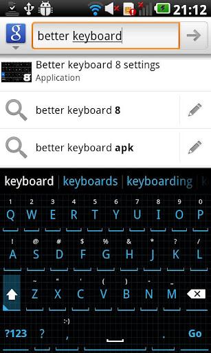Squared Cyan HD Keyboard Theme