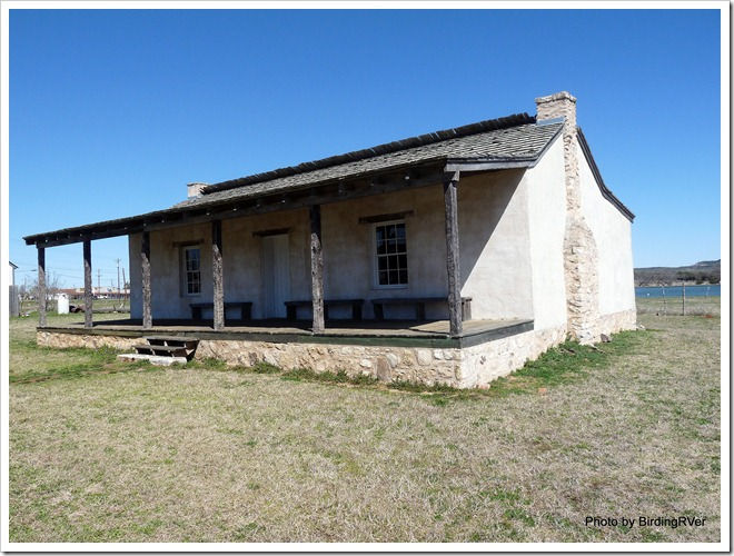 Replica of Officer Quarters looking west