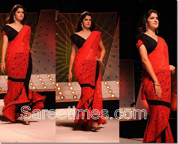 Deeksha_Seth_Red_Saree