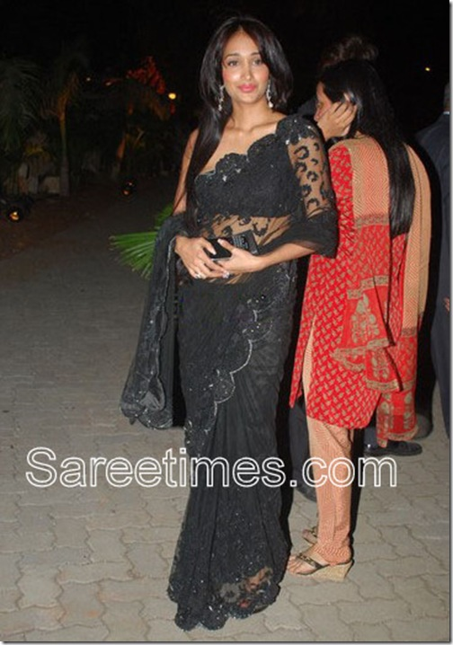 Jiah-Khan-Black-saree