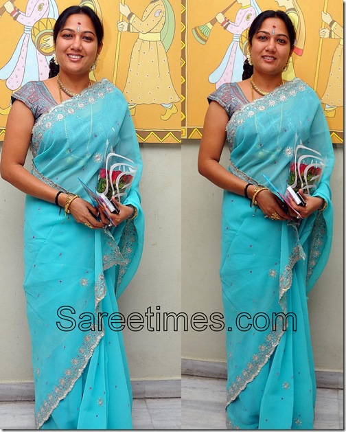 Hema_Blue_Saree