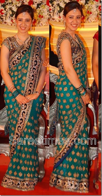 Ritika_Green_Saree
