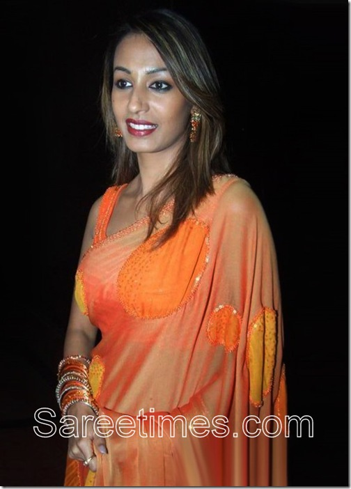 Kashmira_Shah_Orange_Saree