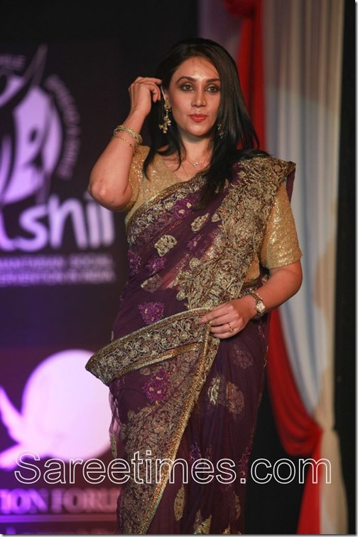 Princess_Diya_Kumari_Purple_Saree
