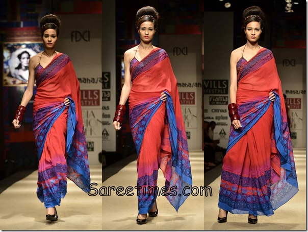 Niki_Mahajan_Red_Designer_Saree
