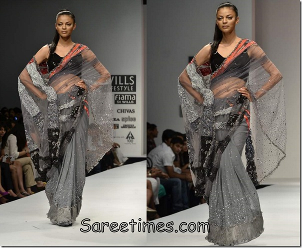 Niket_Jainee_Grey_Saree
