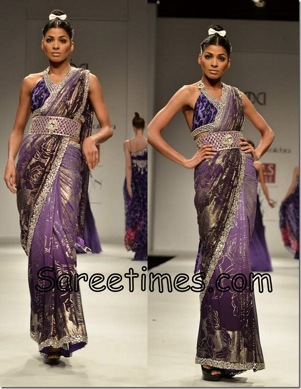 Rabani_Rekha_Purple_Saree