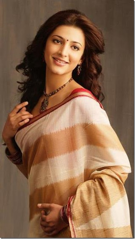 Sruthi_Haasan_Cotton_Saree