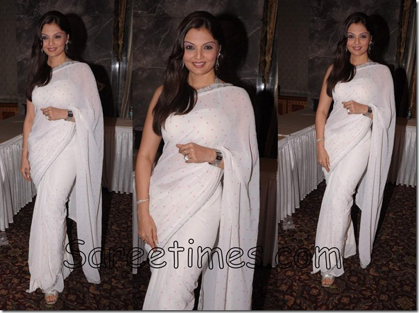Deepshikha_White_Saree