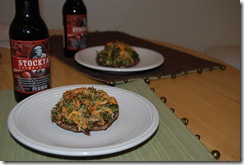 Broccoli Stuffed Portabella Mushrooms