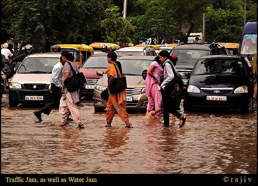Traffic Jam, as well as Water Jam! © RajivKumar