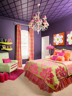 idea para combinar colores, rosa, lila, naranja, amarillo, verde