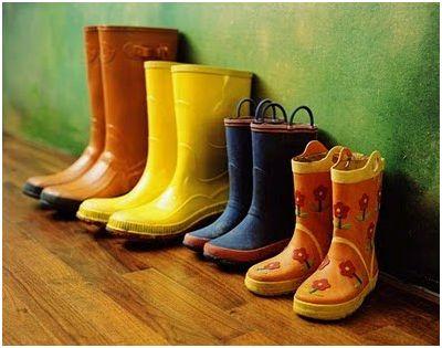 decoracion y botas de agua
