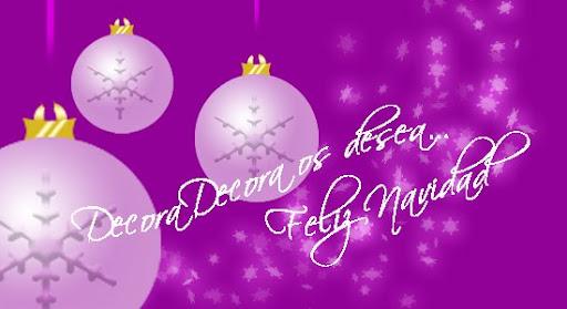 Decora Decora os desea Feliz Navidad 2010