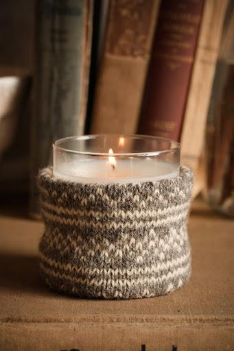 decorar las velas con tejidos