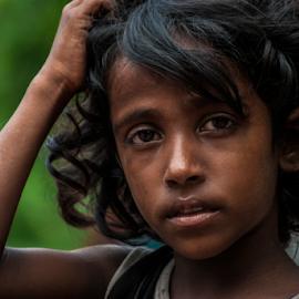 No Emotion by Istiak Mahmud - Babies & Children Children Candids ( girl child, child, sadness, poverty, sad, poor )