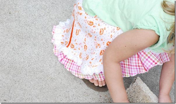 Apricot picnic skirt 060