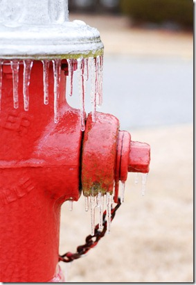 icycles on fire hydrant