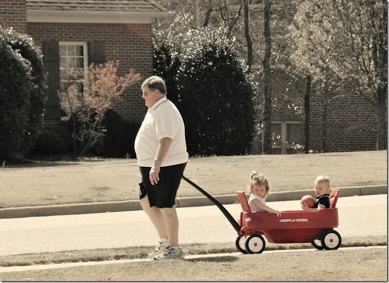 Russ with kids in wagon