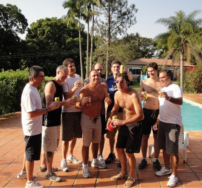 Edson, Cassio, Tonhão, Jalil, Alê, Tosi, Michel, Enge e Ronaldo.