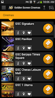 Screenshot of Golden Screen Cinemas
