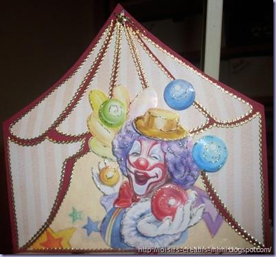 carte 3D chapiteau cirque