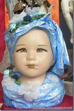 buste Marijke Kok  bleu août 2010